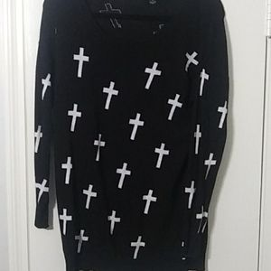 Forever 21 Plus Sizes Black Sweater White ✝